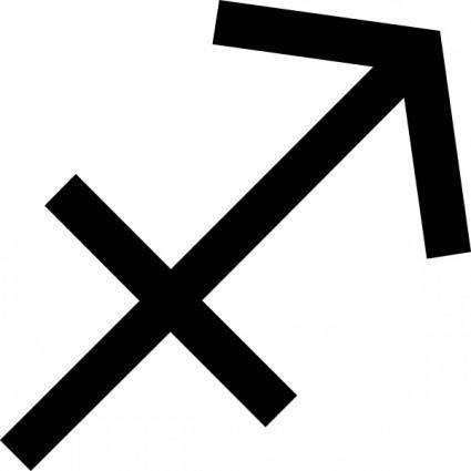 free vector Zodiac Sagittarius Sign clip art