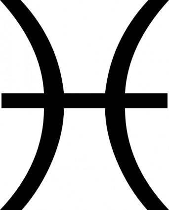 Zodiac Pisces clip art