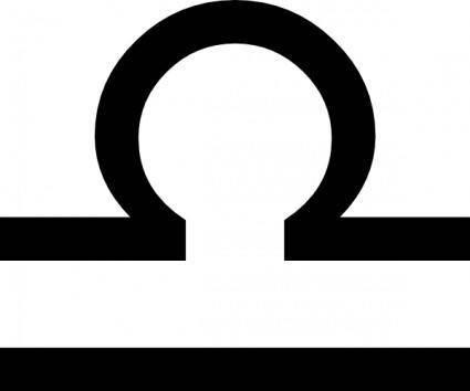 free vector Zodiac Libra clip art