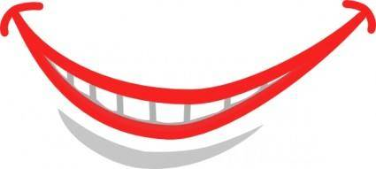 free vector Smile Mouth Teeth clip art