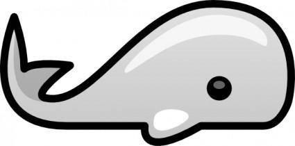 Small Whale clip art