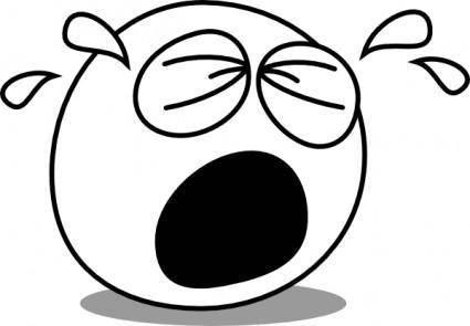free vector Buddy Crying clip art