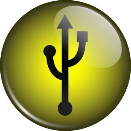 Glassy Usb Symbol clip art