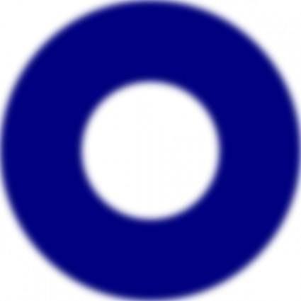 Doughnut Blue Symbol clip art