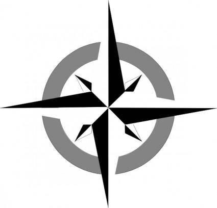 free vector Compass Rose clip art