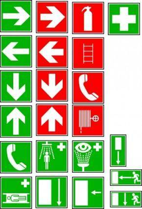 Safety And Security Symbols clip art