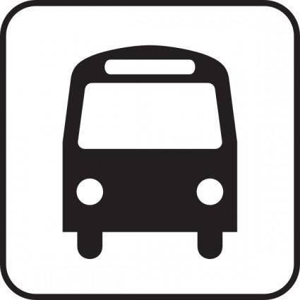 free vector Map Symbols Bus clip art