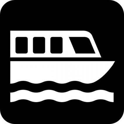 Map Symbols Boat clip art