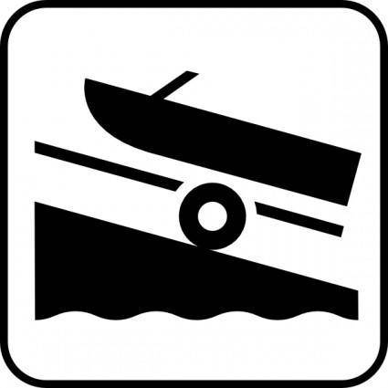 free vector Map Symbols Boat Trailer clip art