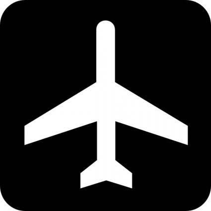 free vector Map Symbol Plane clip art