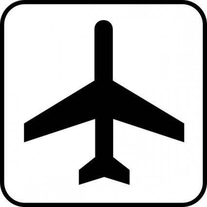Map Symbol Plane clip art