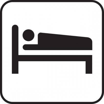 Hotel Motel Sleeping Accomodation clip art