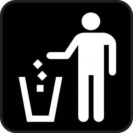 free vector Trash Litter Box clip art