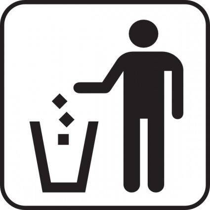 Trash Litter Box clip art