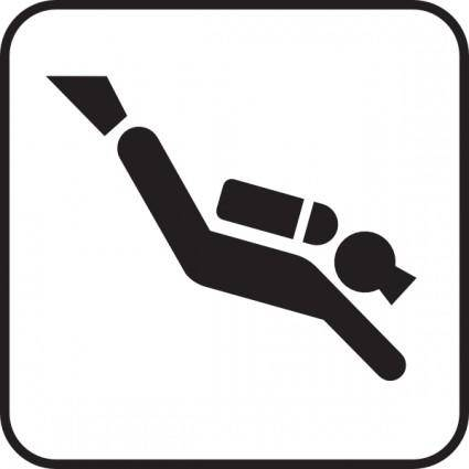 free vector Water Diving clip art