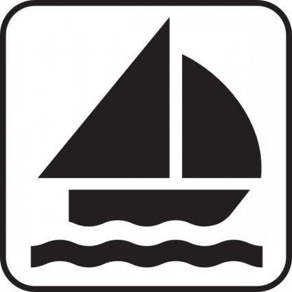 Boat Sailing clip art