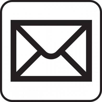 Closed Mailing Envelope clip art