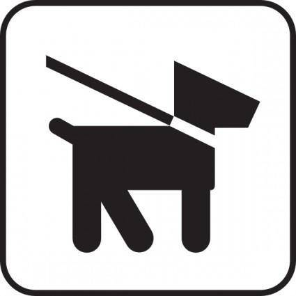 Keep Dogs On Leash clip art
