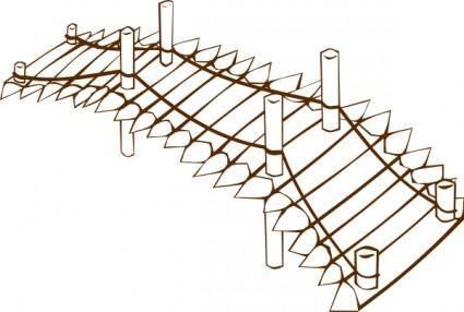 Wooden Bridge clip art