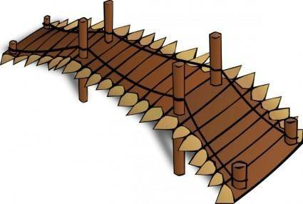 Wooden Bridge clip art