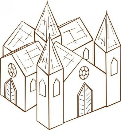 free vector Cathedral clip art