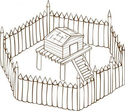 free vector Fort clip art