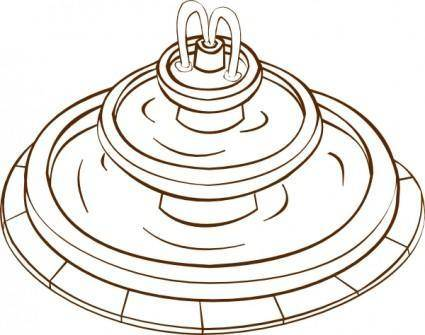 Fountain clip art