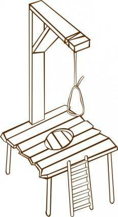 Gallows clip art