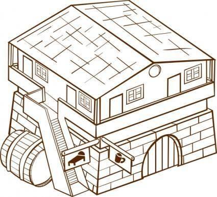 free vector Inn clip art
