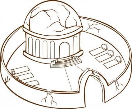 free vector Monastery clip art