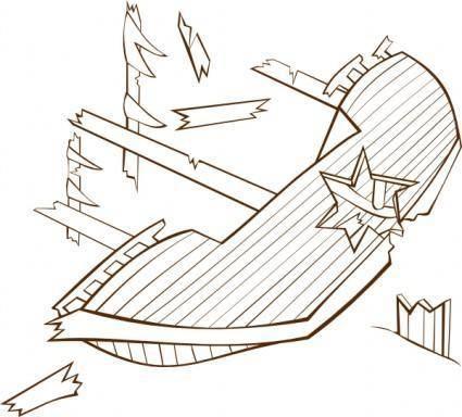 free vector Shipwreck clip art