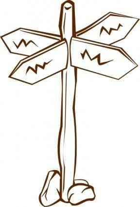 free vector Crossroads Sign clip art
