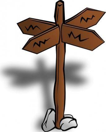 Crossroads Sign clip art