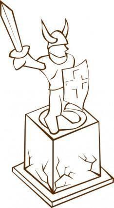 Statue clip art