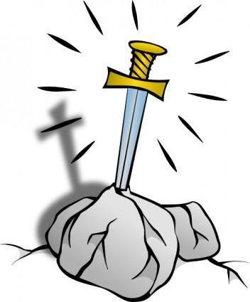 free vector Sword In The Stone clip art