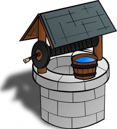 free vector Wishing Well clip art