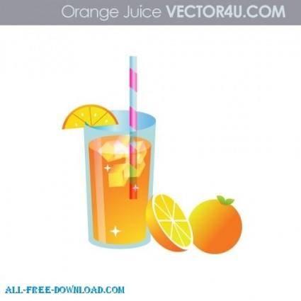 free vector Fresh Orange Juice
