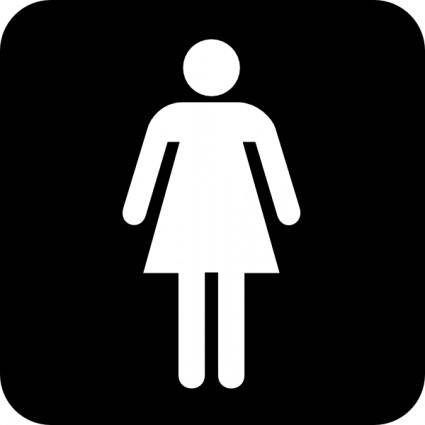 Ladies Room clip art