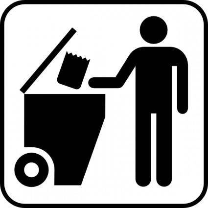 free vector Trash Disposal clip art