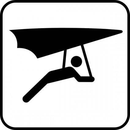 Hang Glider clip art