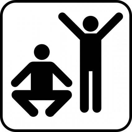 Exercise  Or Gym Area clip art