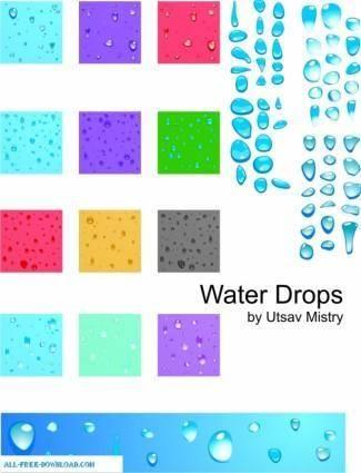 free vector Rainy Drops