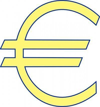 free vector Archie Symbol Money Euro Simple clip art