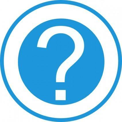 free vector Blue Question Mark clip art