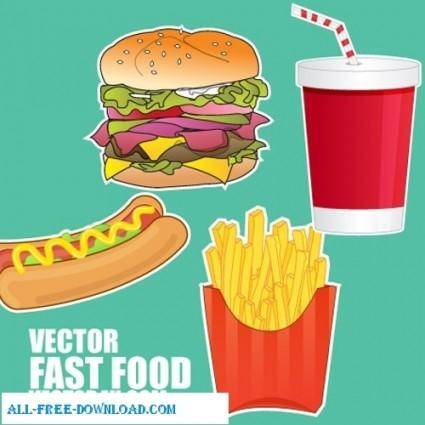 free vector Fast food