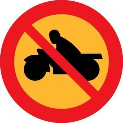No Motorbikes clip art