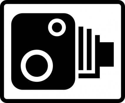 Speed Camera Sign clip art