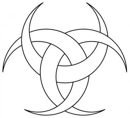 free vector Three Crescents clip art