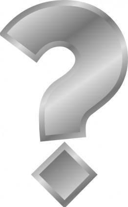 free vector Question Mark Silver clip art