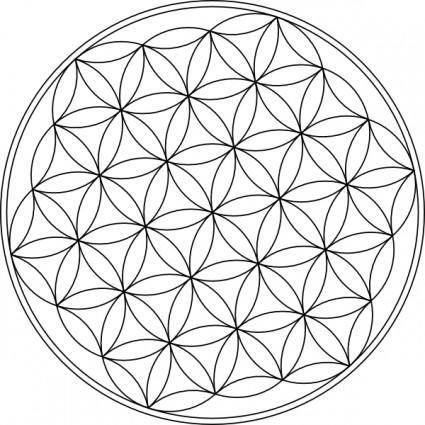 Carlotheman Flower Of Life Symbol clip art